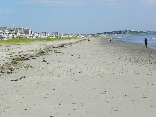 Nantasket Beach Resort: Looking north at low tide