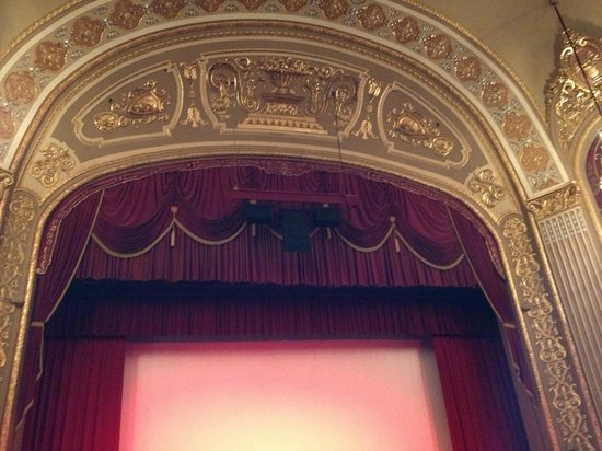 The Orpheum Theatre : Details above the stage