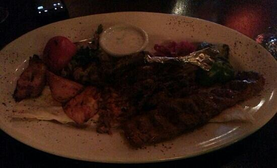 Talullas: Mixed meat entree - pic does not do justice. Delish!