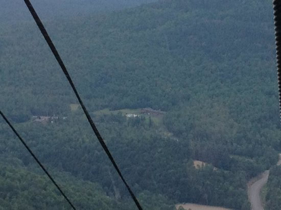 Ledge Rock at Whiteface: View of hotel from the gondola