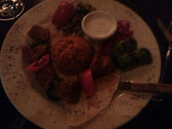 Talullas: lamb sis entree - yum! - pic does not do justice