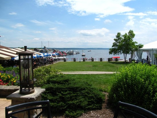 The Shore at The Inn on the Lake: View of Candaigua Lake from covered patio seating