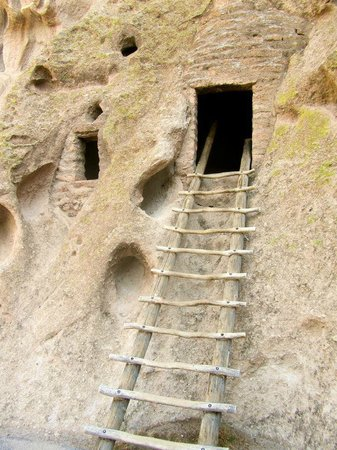 Bandelier National Monument: One of the many cliff dwellings.