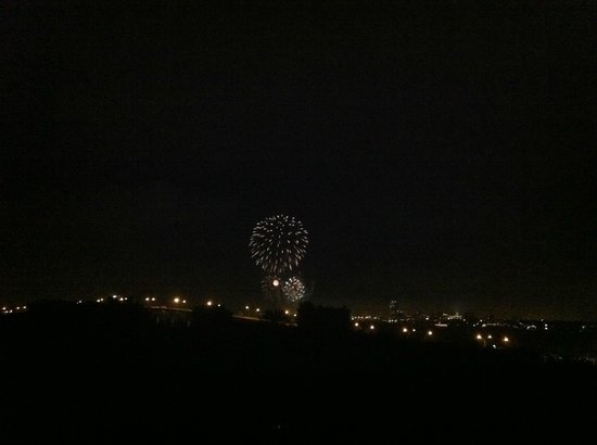 Sheraton Sand Key Resort: Fireworks in Clearwater from Sheraton room 806