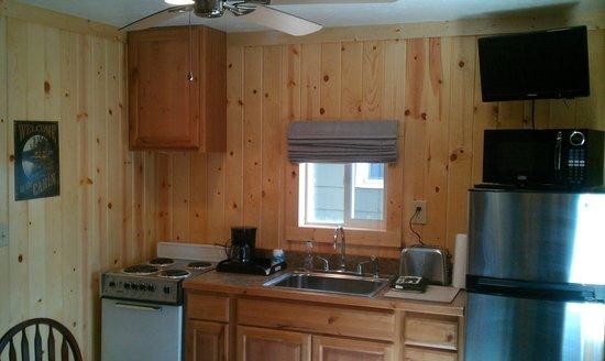 Evergreen Motel: kitchen cabin 4