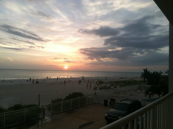 Seagate Condominiums: View of sunset from our balcony