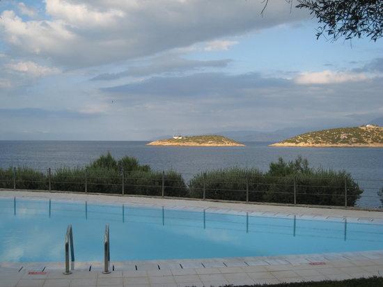 Sensimar Minos Palace - Adults Only : Вид из номера с общим бассейном