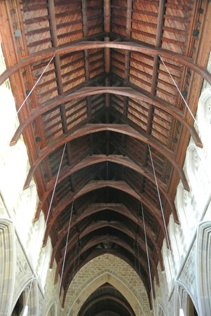 Wooden vaulted ceiling picture of st david 39 s cathedral for Cathedral ceiling definition