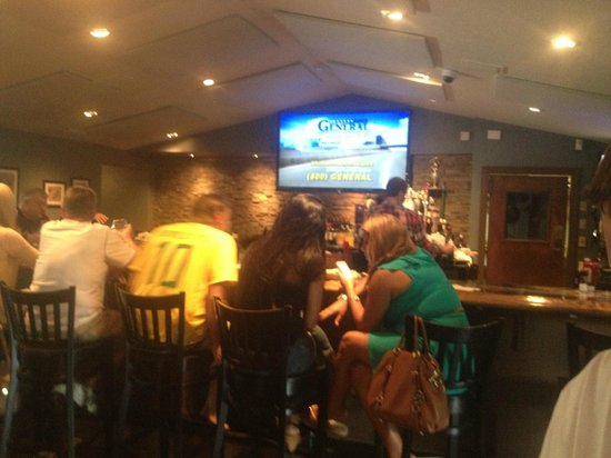 Manny's Restaurant: It's a sports bar too!  Lots of T.V.'s