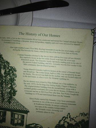 The Veranda: The history