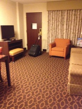Embassy Suites by Hilton Charlotte: nice big living room area, thanks