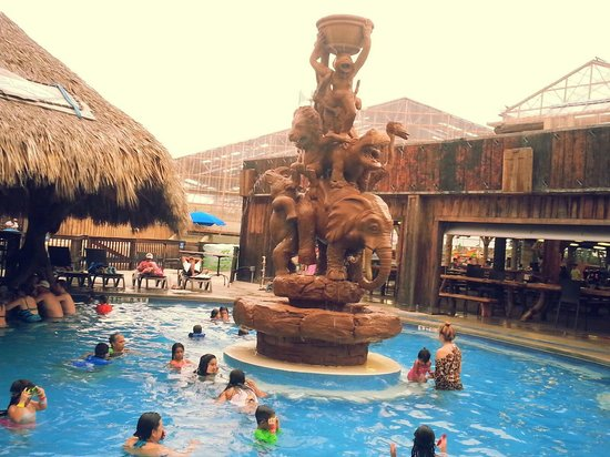 Schlitterbahn Beach Resort: heated pool with a bar