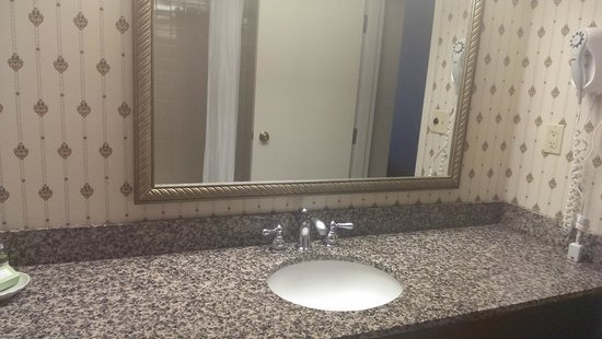 GuestHouse Inn-Bloomington: Bathroom sink.