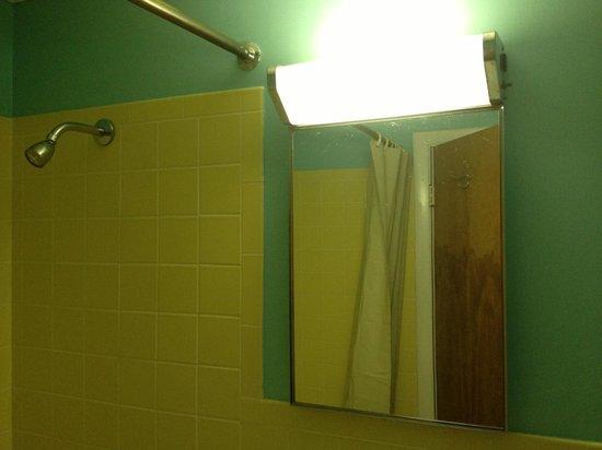 Red Rose Motel : Old school 1950s bathroom