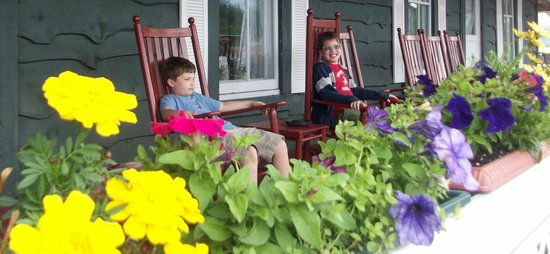 Adirondack Hotel on Long Lake : Relaxing on the front porch!