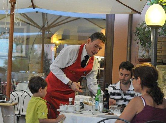 Ristorante Coccorone: Vriendelijke ober
