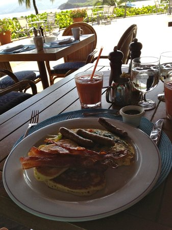 Rosewood Little Dix Bay: Breakfast at the Pavilion