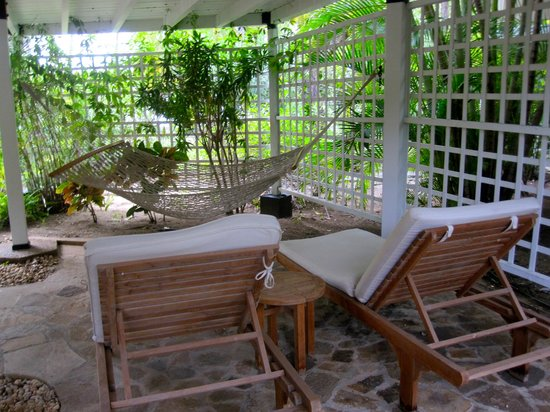 Rosewood Little Dix Bay: Tree House Cottage downstairs patio