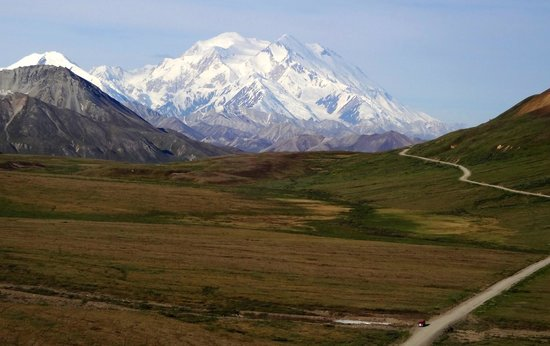Wonder Lake Campground: Views of Denali as you approach Eielson Visitor's Center
