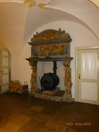 Wasserschloss Mellenthin: 17th cent. fire place