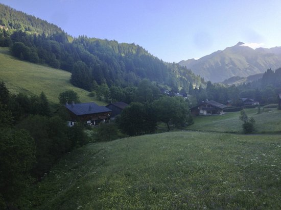 Chalet Bluebell Les Gets : View down the valley