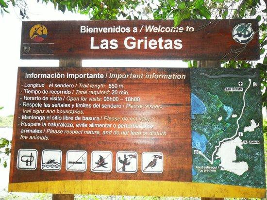 Las Grietas : placa sinalizadora