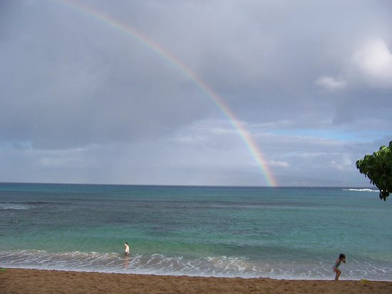 The Napili Bay: Rainbow from lanai