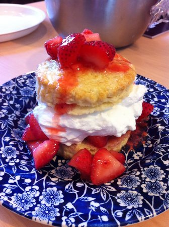Swans Island, ME: Strawberry shortcake