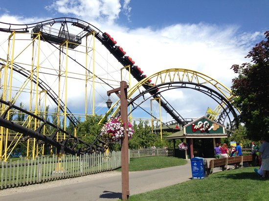 Silverwood Theme Park: Near the roller coasters.