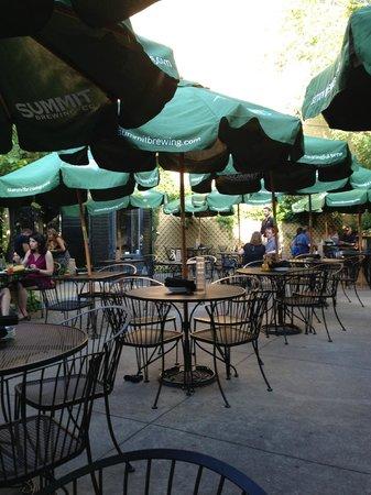 La Grolla: part of the outdoor patio