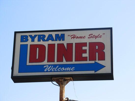Byram Diner: Sign above diner
