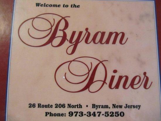 Byram, NJ : Menu Cover