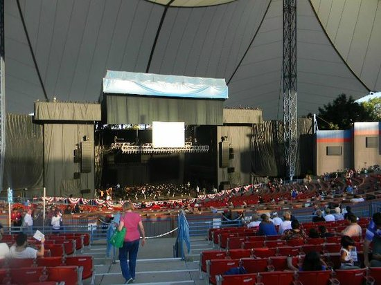 Shoreline Amphitheatre: daytime view of stage