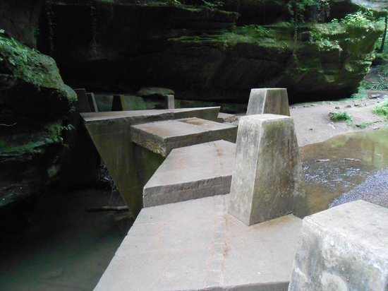 Hocking Hills State Park: Part of one of the trails for Old Man's Cave