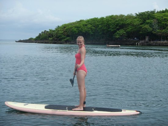 Steve's Paddle Shack: on the paddle board for the first time