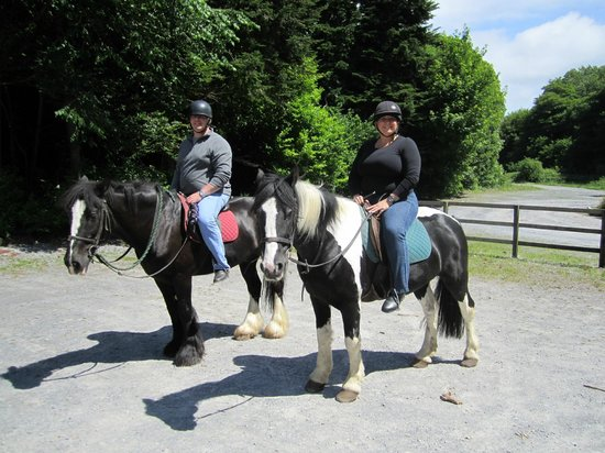 Ashford Equestrian Centre: My husband and me at the end of our ride