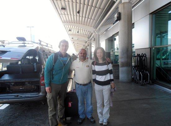Hotel La Rosa de America: Ignacio our driver had us to the airport in about 15 mins