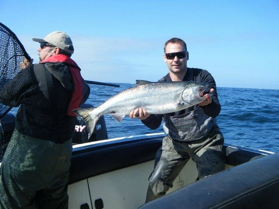 Tofino Ospray Lodge: Steve With The First Chinook Of  Day 2