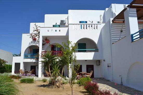 Villa Naxia Studios-Apartments: back view of Villa Naxia