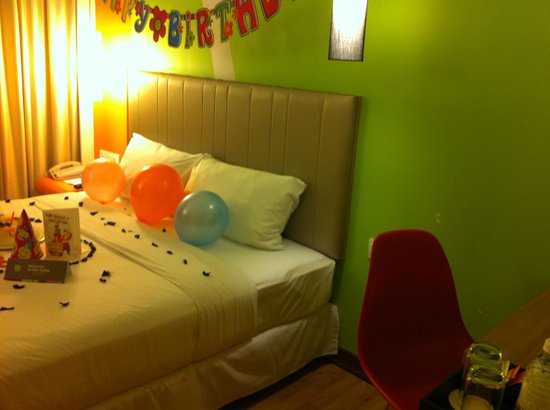 Ibis Styles KL Cheras: The room after birthday deco