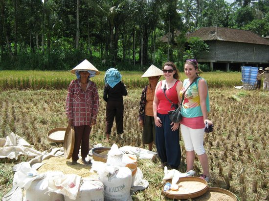 Bali Exotic Adventure - Private Tours: three of us joined the farmers