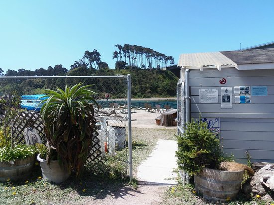 Sportsmans RV Park: Private gate to deck and bathrooms