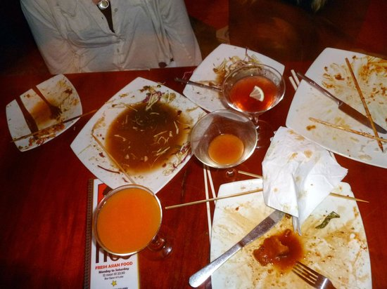 Uncle Ho's: If there was anyway to lick the plates clean without seeming strange, we probably would have!!!