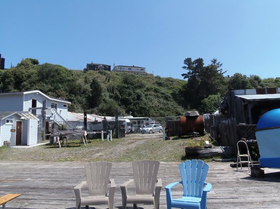 Sportsmans RV Park: View from Sportsman's deck or RV park