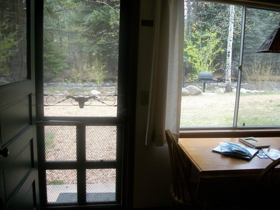 River Spruce: the view from the kitchen