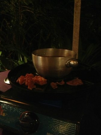 Garden Steamboat: you can either have it in the soup or grill your dishes
