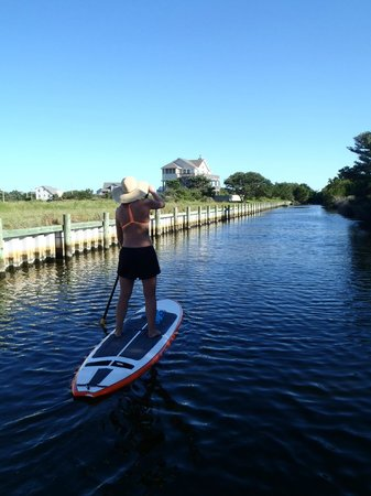 Kite Club Hatteras : The canal to Pamlico Sound next to KCH
