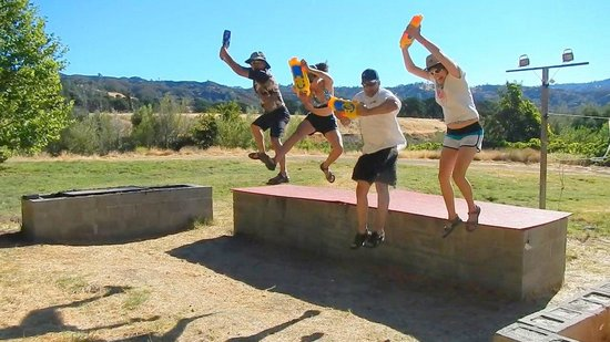 Rumsey, CA: Water gun fun