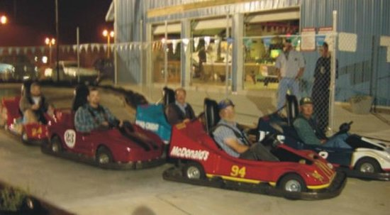NASCAR Go Cart Track: Racing under the lights