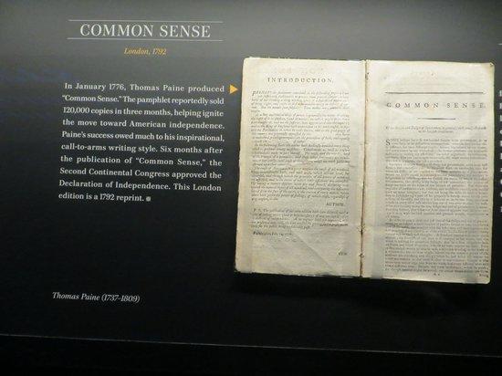 Newseum – Muzeum Newsów i Dziennikarstwa: Copy of Common Sense